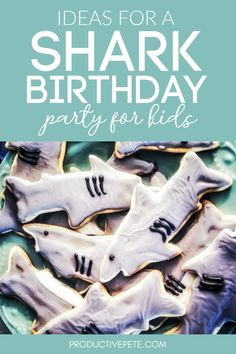 Throw an awesome Shark Birthday Party with these ideas for supplies, cakes, cookies, invitations, decorations & games! Tons of easy & fun Shark Party ideas to help you host an awesome Shark Party! Birthday Party Games, 4th Birthday Parties, Shark Games For Kids, Shark Week Crafts, Party Planning Checklist, Football Birthday, Shark Party, Party Ideas, Invitations