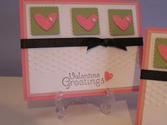Handmade Postage Punch Valentines Day Card by MelsKreativeKards, $2.50
