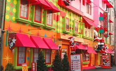 A street of love hotels in the Japanese city of Osaka