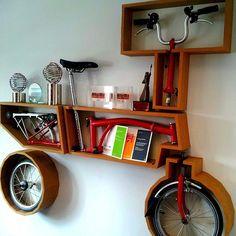 Integrating the Brompton folding bike in a wall design.