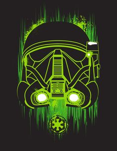 Star Wars Rogue one art. Neon Death Trooper from Rogue One. Re-pin for even more exclusive Star Wars Pins!