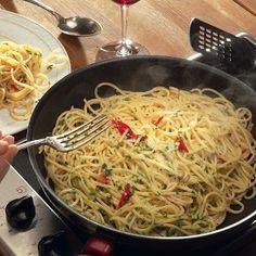 Паста спагетти с сыром