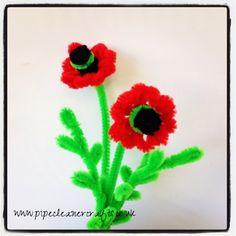 pipe cleaner poppy flower