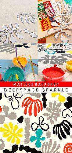 How to make a painted graphic design backdrop for videos Art Activities For Kids, Art For Kids, Kid Art, Art Classroom Decor, Deep Space Sparkle, Henri Matisse, Art Lessons, Creative Art, Modern Art