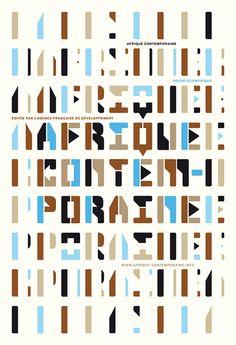 Studio Philippe Apeloig, Afrique contemporaine poster, 2011