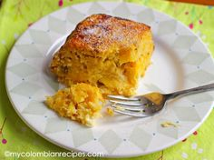 Torta de Maduro (Ripe Plantain and Cheese Cake)-My Colombian Recipes