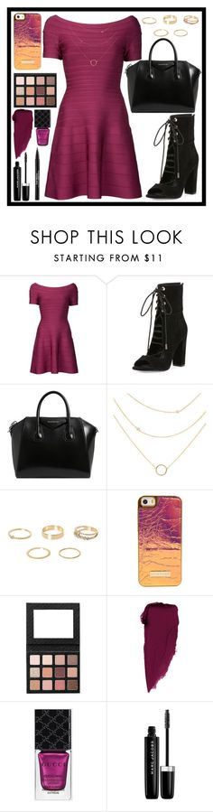 """""""take it all."""" by rostovskaya-regina on Polyvore featuring мода, Hervé Léger, Kendall + Kylie, Givenchy, River Island, Gucci, Marc Jacobs, Trish McEvoy, purple и black"""