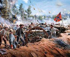 Civil War art by Don Troiani American Revolutionary War, American Civil War, American History, British History, Native American, Alabama, Military Art, Military History, Civil War Art