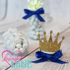 Little Prince Baby Bottle Favors in Royal Blue & by LovinglyMine