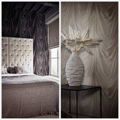 Dress the #feature #wall with #Drapery #Wallcovering from BN, #Caravaggio. #Goodrich #Goodrichglobal #goodrichgallery #walls #wallpaper #good #interiors #poshliving #luxury #designs #lovetips #gooddesign #interiordecor #decor #homedecor  #fashion  #trend #interiors #architecture #beige #grey #fabrics #igdaily