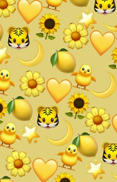 yellow emojis are lifee discovered by mxdvila Emoji Wallpaper Iphone, Cute Emoji Wallpaper, Iphone Wallpaper Tumblr Aesthetic, Iphone Background Wallpaper, Pastel Wallpaper, Tumblr Wallpaper, Galaxy Wallpaper, Cartoon Wallpaper, Aesthetic Wallpapers