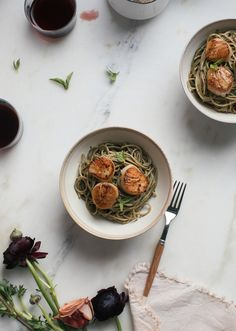 Brown Butter Scallops + Walnut Pesto Pasta – A Cozy Kitchen