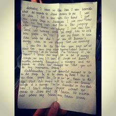 Jared Leto.- Thanks for the letter! Xo #LoveLustFaithDreams #letterstoMARS (via http://instagram.com/p/qTp5ERTBZq/?modal=true