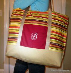 #Sewing pattern. Free. Large tote bag.