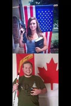 Meanwhile, in Canada. Somehow I feel safer in Canada. Meanwhile In Canada, Meanwhile In America, Canada Funny, O Canada, Canada Humor, America Vs Canada, Canadian Things, I Am Canadian, Canadian Stereotypes