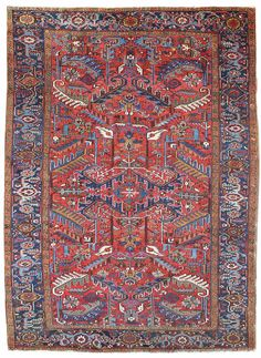 Antique Heriz & Serapi Rugs Gallery: Antique Heriz Rug, Hand-knotted in Persia; size: 7 feet 6 inch(es) x 9 feet 11 inch(es)