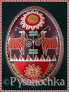 настоящим украинским pysanky. курица писанка. ручной работы HQ с Римской. Пасхальное яйцо