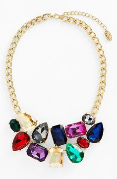 Such a vibrantly colored stone bib necklace.