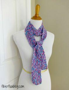 Lovely - Skinny #crochet scarf pattern free from @Jennifer / Fiber Flux