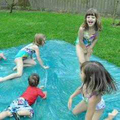 Pool Noodle Sprinkler A simple, inexpensive yet fun DIY sprinkler.