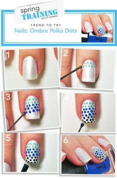 Ombre Polka Dot Nails...love it!