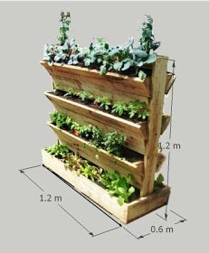 Vertical Gardens Freestanding garden 20 vertical garden ideas - Vertical gardening is nothing more than using vertical space to grow vegetables (or herbs, or flowers, even root crops), often using containers that hang Vertical Planter, Vertical Gardens, Tiered Planter, Vertical Garden Diy, Container Gardening, Gardening Tips, Organic Gardening, Gardening Books, Small Space Gardening