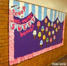 sweet Templates For Bulletin Boards | Miss Lovie: Ice Cream Bulletin Board and Ruffle Border Tutorial