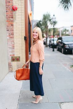 Look Linger Love - Navy Culottes