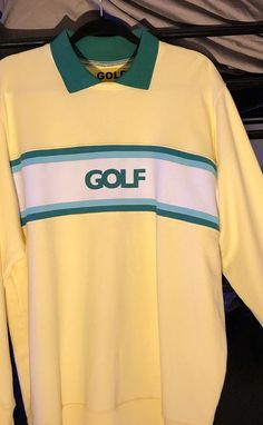 Used (normal wear), New Golf Wang long sleeve polo by Tyler the Creator. Only worn once. No stains or tears. Make an offer! Golf Fashion, Fashion Kids, Fashion Outfits, Fashion Shoes, Golf Tyler, New Golf, Long Sleeve Polo, Golf Outfit, Used Clothing