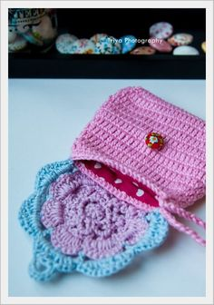 Sweet crochet wallet coin purse with inner by SweetHandmadeCrochet, $19.00