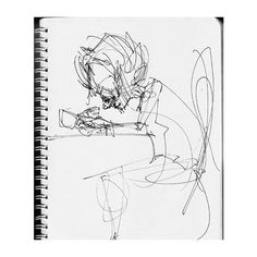 Mate Steinforth » Sketchbook Madrid Comic ❤ liked on Polyvore featuring home, home decor, fillers, books, illustration, notebooks and white