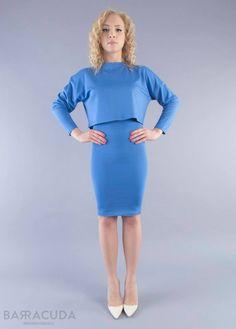 Na zdjęciu: - Błękitna bluzka z długim rękawem - Błękitna tuba #barracudawear www.barracudawear.pl