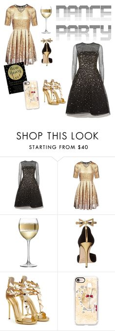 """""""New Year's Eve Glam"""" by afniolet ❤ liked on Polyvore featuring Oscar de la Renta, Matthew Williamson, LSA International and Casetify"""