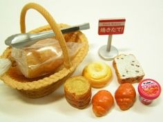 Re ment Bread Bakery Shop 1 Loaf of Bread Assorted Bread Jam Basket Tong | eBay - $25.99