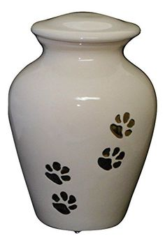 Small White Cat Urn Ceramic jar with lid,urn, Jar with lid, Cremation urn, jar, art pottery, handmade >>> You can find more details by visiting the image link. (This is an Amazon affiliate link)