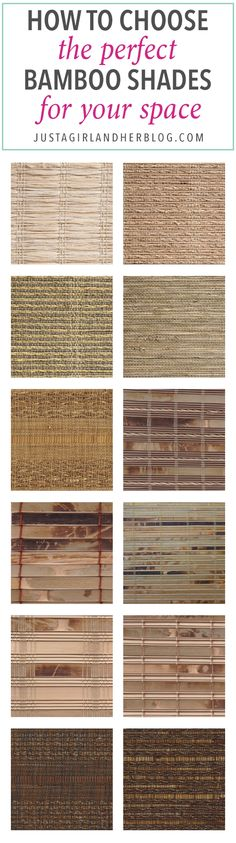 Home How to Choose Bamboo Shades window treatments shades blinds wood Pictures - Model Of types of blinds and shades Simple