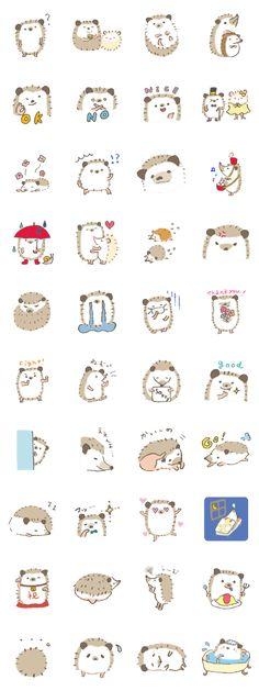 Hedgehog stickers.