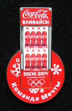 2014 Sochi Olympics Coke Coca Cola Pin Badge  9136b55c7c37e