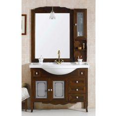idee per arredare un bagno in stile classico - mobile lavabo verde ... - Mondo Convenienza Arredamento Arte Povera