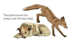 the quick brown fox jumps over the lazy dog uses every letter of the alphabet