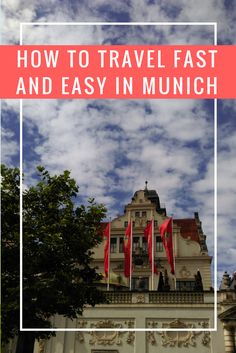 Find great tips for making travel by public transport in Munich more time and cost efficient