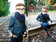 Ummm can you say the cutest kid ever... One day My child will be this fashionable