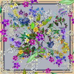 Купить Платок Wild flowers (Полевые цветы)