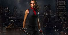 "WATCH: Elektra Cuts Loose In New ""Daredevil"" Teaser - Elodie Yung's Elektra stands revealed -- sai and all -- in a new character poster and video tease from the Marvel/Netflix series."