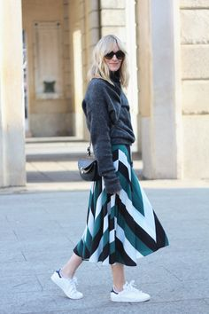 THE STRIPED SKIRT AND SWEATER COMBO