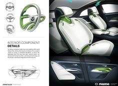 "WARDS Automotive // Mazda ""Islands of Luxury"" by Johad Ellis, via Behance"