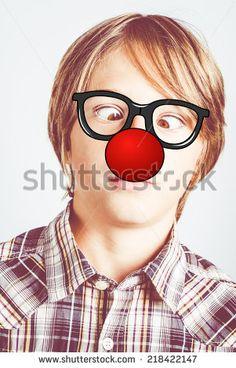 clown nose - stock photo