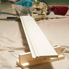 Instant Saw Support - Simple T-blocks have endless uses. They support long boards, raise projects off your workbench so you can work more comfortably, prop up assemblies so you can slip clamps under them, make a drying rack for finishing projects—the list goes on and on. Build a few from scrap wood and you'll find uses we haven't even thought of.