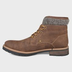 best website 738c8 976ab Men s Vance Co. Darvin Faux Leather Casual Lace-Up Boot - Brown 7. RopaBotas  Con Cierre De CordonesBotas InformalesNubeHombres ...