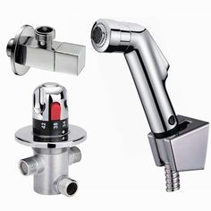 68.60$  Watch here - http://alid4x.worldwells.pw/go.php?t=32691813299 - Free shipping Thermostatic Bidet Faucets Mixers Taps + ABS handheld shower +Shower Holder + Shower Hose 68.60$